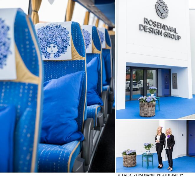 Bussen er klar til at køre pressen til Bjørn Wiinblads hjem